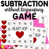 Heart Hop- Subtraction without Regrouping Game