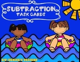 Subtraction without Regrouping Task Cards - Summer