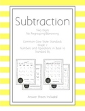 Subtraction without Regrouping/Borrowing Pack with Contine