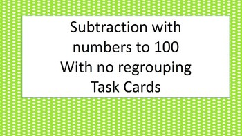 Subtraction without regrouping