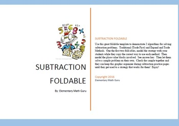 SubtractionMethodsFoldable