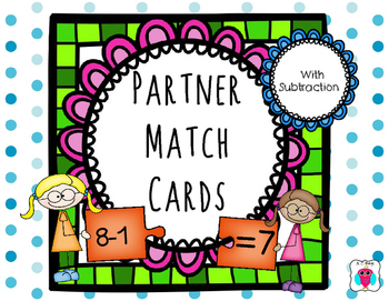 Subtraction Partner Match Cards