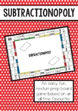 Subtractionopoly - a subtraction game for numbers 0-20