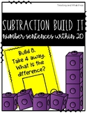 Subtractions Build It- Number Sentences Within 20