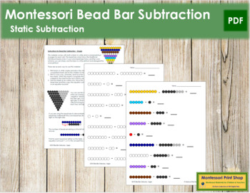 Subtraction with Bead Bars - Simple