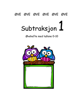 Subtraksjon 1 Tallene 0-10