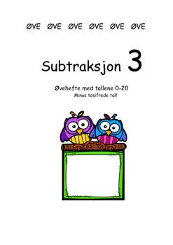 Subtraksjon 3 med tallene 0-20