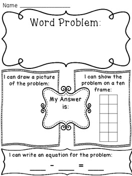 Subtraction within 10 Word Problems Worksheets