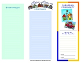 Suburban Pamphlet Template Fill-in For Social Studies Communities