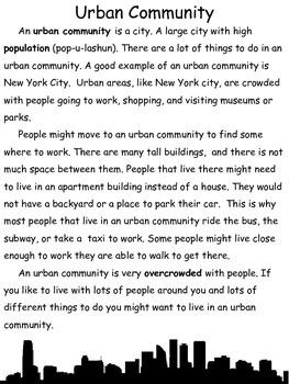 Suburban, Urban, Rural