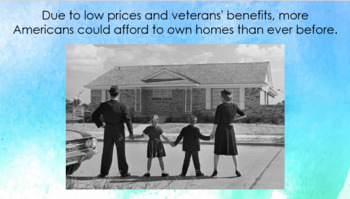 Suburbs & Home Ownership after WWII PowerPoint