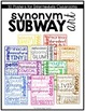 Subway Art Bundle: Genres, Comprehension Strategies, Synonyms, We Believe