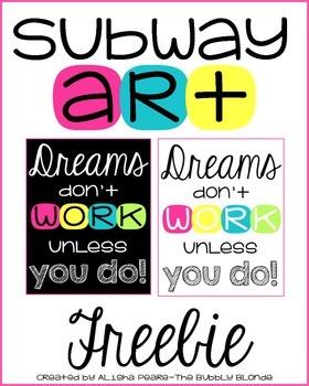 Subway Art Poster FREEBIE