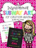 Subway Art Posters for Classroom Display