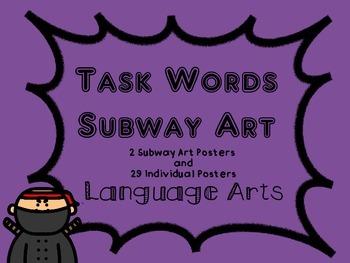 Language Arts Task Words (Create Your Own Subway Art)