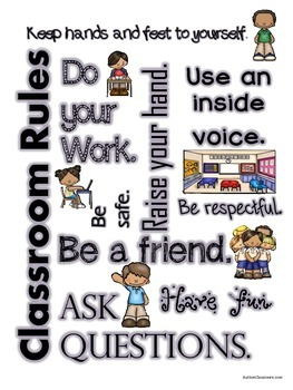 Subway Art - Visual Classroom Rules with Pictures