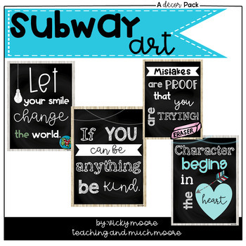 Subway Art for the classroom