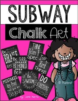 Subway Chalk Art