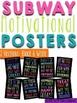 Subway Motivational Posters- Brights