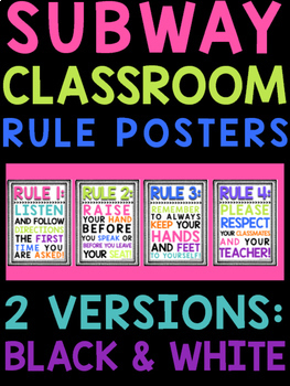 Subway Rule Posters