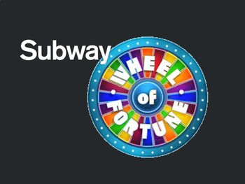 Subway-Themed Wheel of Fortune Game