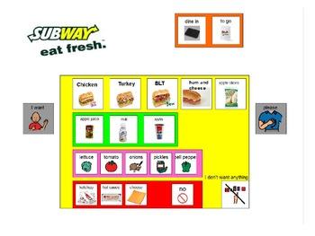 Subway and McDonald's Choice Boards