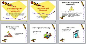 Succeeding with Homework: A Presentation for Parents