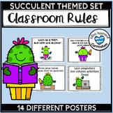 Succelent Classroom Decor Classroom Rules Cactus Posters