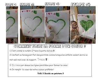 Succès en peinture-maternelle un coeur