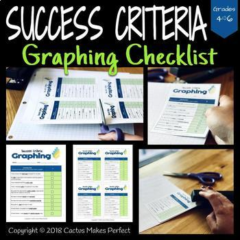 Success Criteria Checklist - Data Management - Graphing (B&W Version Included!)