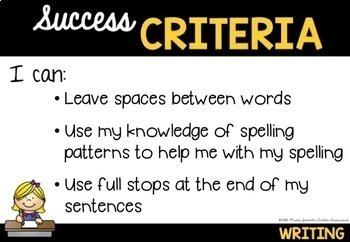 Success Criteria Posters