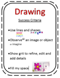 Success Criteria Rubric for Drawing