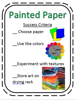 Success Criteria Rubric for Painted Paper Poster