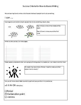 Success Criteria- TCRWP How to Writing
