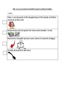 Success Criteria- TCRWP Learning to Build good Reading Habits