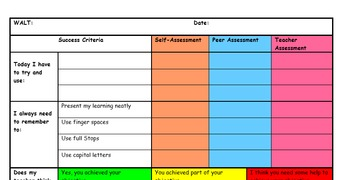 Success Criteria and Assessment Grids- English and Maths