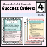 4th Grade Learning Targets & Success Criteria Posters: English Language Arts