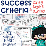 Success Criteria for Common Core Learning Targets BUNDLE 1