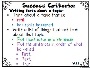 Success Criteria for Common Core Learning Targets K-2 BUNDLE {Editable}