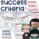Success Criteria for Common Core Learning Targets Whole School License K-2