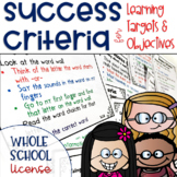 Success Criteria for Common Core Learning Targets Whole School License 3-5