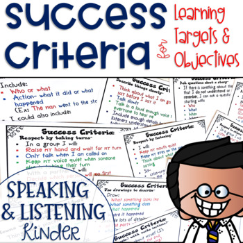 Success Criteria for Common Core Learning Targets in Speak