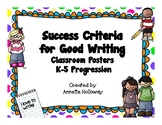 Success Criteria for Good Writing