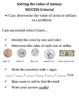 Success Criteria for Money