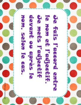 Success Criteria for the FSL classroom.