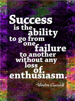 Success & Enthusiasm Poster