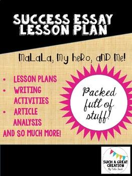 Success Essay Lesson Plan