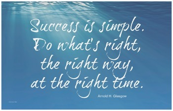 Success Glasgow Quote 11x17 Classroom Poster Motivation Ch
