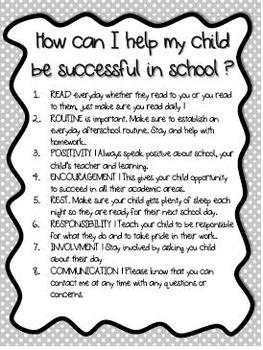 Success Letter To Parents Polka Dots Black and White