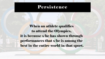 Olympics Success Persistence Goal-setting READY-TO-USE LESSON w 9 videos
